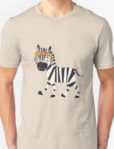 Cute Cartoon Animals Tribal Zebra Unisex T-Shirt