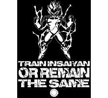 Train Insaiyan - White Photographic Print