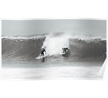 Surfer Dropping In, Pipeline, North Shore, Oahu, Hawaii Poster