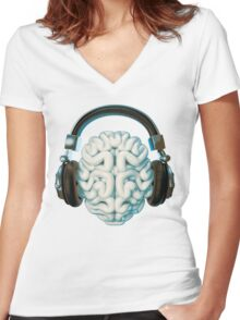 Mind Music Connection Women's Fitted V-Neck T-Shirt