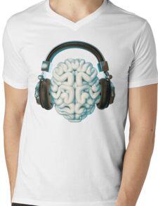 Mind Music Connection Mens V-Neck T-Shirt