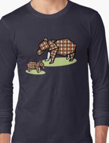 Mother Bear Baby Bear Origami Long Sleeve T-Shirt