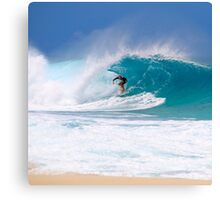Shore Break, Pipeline, North Shore, Oahu, Hawaii Canvas Print