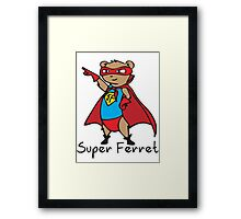Super Ferret Framed Print