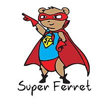 Super Ferret Photographic Print