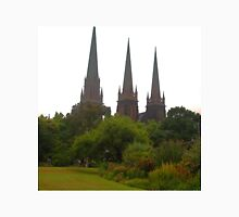 St Patricks Cathedral, view from Parliament House Gardens Melbourne Unisex T-Shirt
