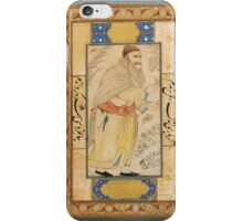 A PORTRAIT OF A DERVISH (GYATH) ATTRIBUTED TO REZA-I ABBASI, SAFAVID PERSIA, ISFAHAN, SECOND QUARTER 17TH CENTURY iPhone Case/Skin