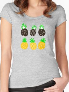 Black pineapple Women's Fitted Scoop T-Shirt