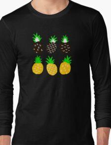 Black pineapple. Long Sleeve T-Shirt