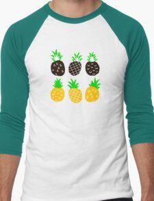 Black pineapple Men's Baseball ¾ T-Shirt