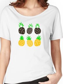 Black pineapple Women's Relaxed Fit T-Shirt
