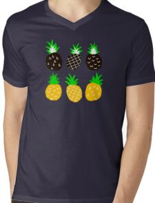 Black pineapple Mens V-Neck T-Shirt