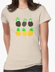 Black pineapple. Womens Fitted T-Shirt