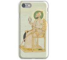 A portrait of Muhammad Shah, India, late 18th century iPhone Case/Skin