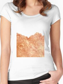 Rose Gold Rush #redbubble #lifestyle Women's Fitted Scoop T-Shirt