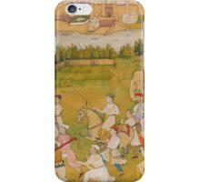 A prince rides out with a hunting party, attributable to Hiranand, Mughal, circa  iPhone Case/Skin