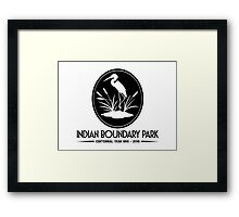Indian Boundary Park's Centennial Year Framed Print