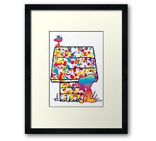 Snoopy and Woodstock Paint Color Framed Print