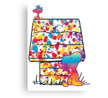 Snoopy and Woodstock Paint Color Canvas Print