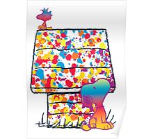 Snoopy and Woodstock Paint Color Poster