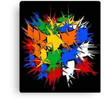 Rubik's Cube Explosion  Canvas Print