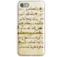 A QUR'AN JUZ' IN MAGHRIBI SCRIPT ON VELLUM, SPAIN OR MOROCCO, 13TH CENTURY iPhone Case/Skin