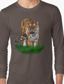 Tiger on Green Long Sleeve T-Shirt