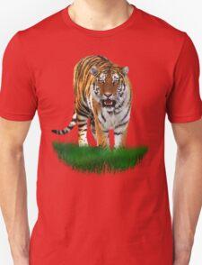 Tiger on Green Unisex T-Shirt