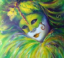 Green mask by Ivana Pinaffo