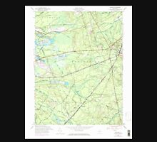 USGS TOPO Map New Jersey NJ Whiting 254985 1957 24000 Unisex T-Shirt