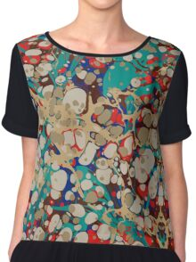 Urban Hip Hop Splash Psychedelic Colors 2 Chiffon Top