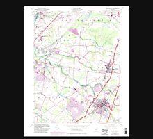 USGS TOPO Map New Jersey NJ Hightstown 254469 1954 24000 Unisex T-Shirt
