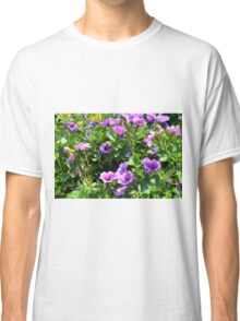 Beautiful spring purple flowers in the park. Classic T-Shirt