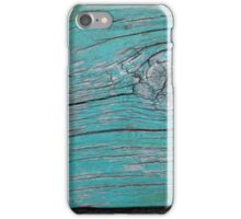 Wood Knot in Turquoise - Horizontal iPhone Case/Skin