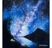 Camping under the Milky Way Photographic Print