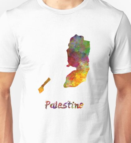 Palestine in watercolor Unisex T-Shirt