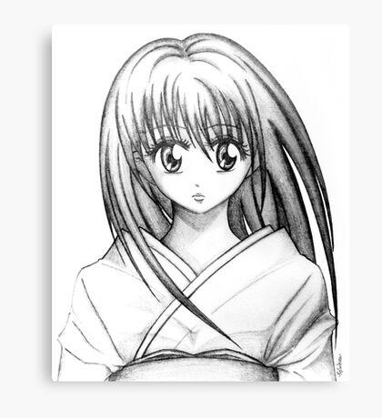 Random Anime Girl (Pencil Drawing) Canvas Print