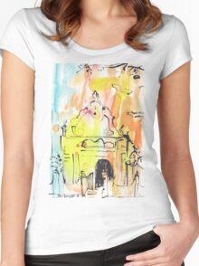 Groote Kerk, Galle Fort Women's Fitted Scoop T-Shirt