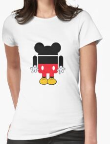 Android Mickey Womens Fitted T-Shirt