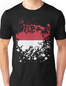 Indonesia Flag Ink Splatter Unisex T-Shirt
