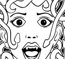 foolish medusa (b&w) Sticker