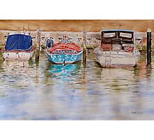 Moored at Mordialloc Photographic Print