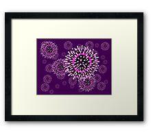 Influenza pattern Framed Print