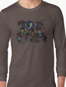 I Love My Mum Multicoloured Aussie Tangle  Long Sleeve T-Shirt