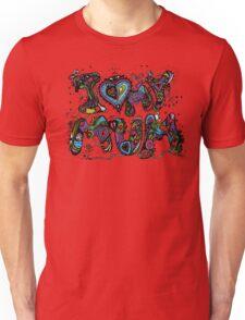 I Love My Mum Multicoloured Aussie Tangle  Unisex T-Shirt