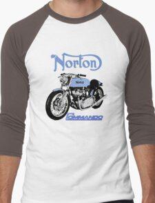 NORTON COMMANDO VINTAGE RETRO Men's Baseball ¾ T-Shirt