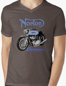 NORTON COMMANDO VINTAGE RETRO Mens V-Neck T-Shirt