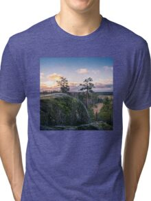 Lovely morning on top of the hill Tri-blend T-Shirt