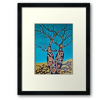 BOAB TREES with Aboriginal theme Framed Print