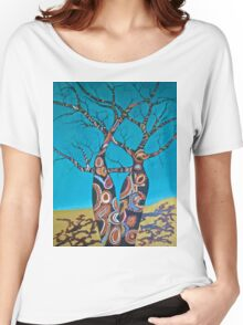 BOAB TREES with Aboriginal theme Women's Relaxed Fit T-Shirt